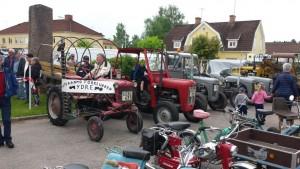 Veterantraktorer och mopeder ur samlingen